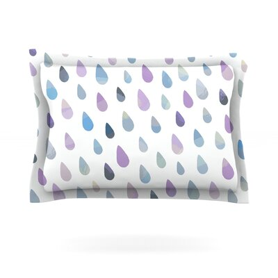 Opal Drops by Daisy Beatrice Featherweight Pillow Sham Size: King, Color: Purple/White