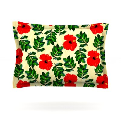 No More Peonies by Sreetama Ray Featherweight Pillow Sham Size: Queen, Fabric: Cotton