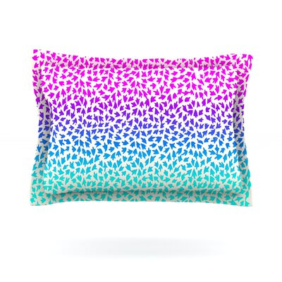 Ombre Arrows by Sreetama Ray Featherweight Pillow Sham Size: Queen, Fabric: Cotton
