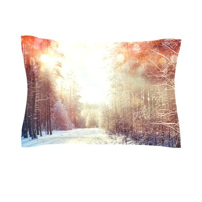 Winter Walkway by Snap Studio Featherweight Pillow Sham Size: King, Fabric: Cotton