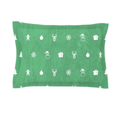 Cheery by Snap Studio Featherweight Pillow Sham Color: Green, Size: King, Fabric: Cotton