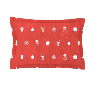Cheery by Snap Studio Featherweight Pillow Sham Size: King, Color: Red, Fabric: Cotton