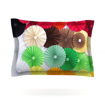 Adored by Heidi Jennings Featherweight Pillow Sham Size: King, Fabric: Cotton
