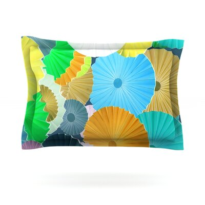 Curiousity by Heidi Jennings Featherweight Pillow Sham Size: King, Fabric: Cotton