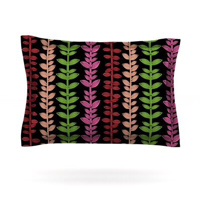Garden Vine and Leaf by Jane Smith Featherweight Pillow Sham Size: Queen, Fabric: Cotton