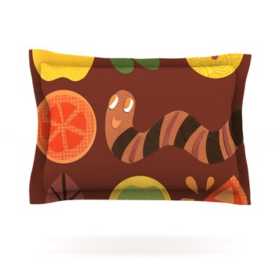 Autumn Repeat by Jane Smith Featherweight Pillow Sham Size: King, Fabric: Cotton