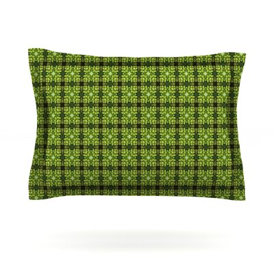 Floral Green by Matthias Hennig Featherweight Pillow Sham Size: King, Fabric: Cotton