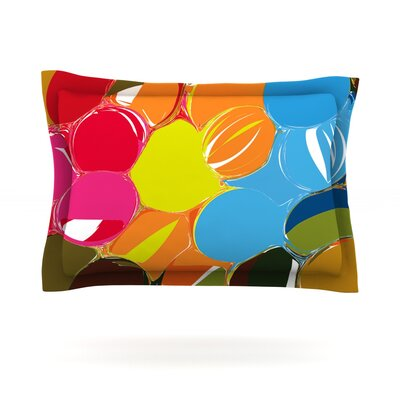 Bubbles by Matthias Hennig Featherweight Pillow Sham Size: King, Fabric: Cotton