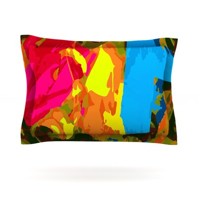 Colored Plastic by Matthias Hennig Featherweight Pillow Sham Size: Queen, Fabric: Cotton