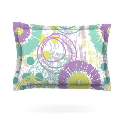 Splatter by Chickaprint Featherweight Pillow Sham Size: Queen, Fabric: Cotton