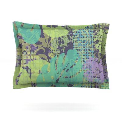 Verdure Collage by Chickaprint Featherweight Pillow Sham Size: King, Fabric: Cotton