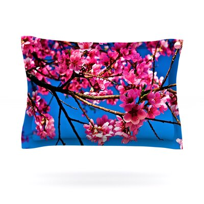 Flowers by Maynard Logan Featherweight Pillow Sham Size: Queen, Fabric: Cotton