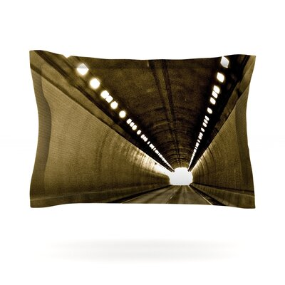 Tunnel by Maynard Logan Featherweight Pillow Sham Size: Queen, Fabric: Cotton