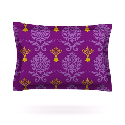 Purple Crowns by Nicole Ketchum Featherweight Pillow Sham Size: Queen, Fabric: Cotton