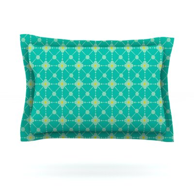 Hive Blooms by Nicole Ketchum Featherweight Pillow Sham Size: Queen, Fabric: Cotton