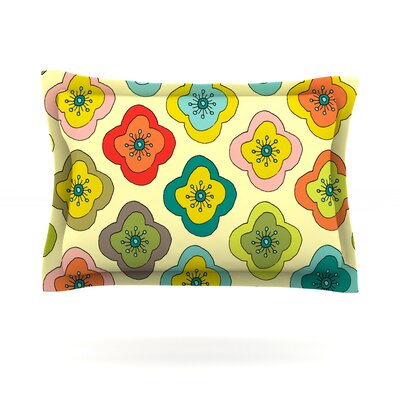 Forest Bloom by Nicole Ketchum Featherweight Pillow Sham Size: Queen, Fabric: Cotton