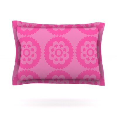 Moroccan by Nicole Ketchum Woven Pillow Sham Size: Queen, Color: Pink