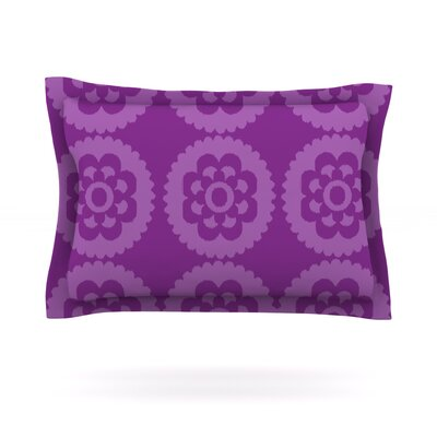 Moroccan by Nicole Ketchum Woven Pillow Sham Size: King, Color: Purple