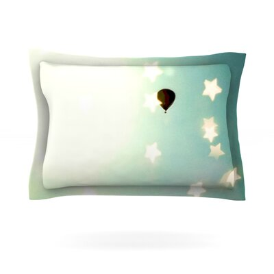 Amongst The Stars by Robin Dickinson Featherweight Pillow Sham Size: King, Fabric: Cotton