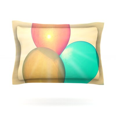 Balloons by Robin Dickinson Featherweight Pillow Sham Size: King, Fabric: Cotton