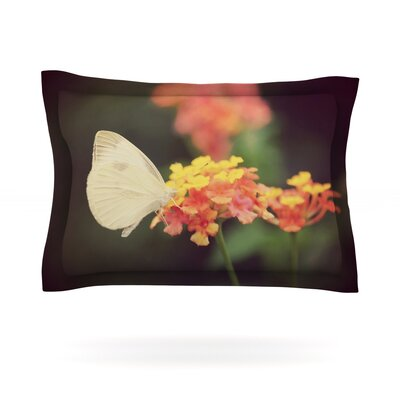 Captivating by Robin Dickinson Featherweight Pillow Sham Size: King, Fabric: Cotton