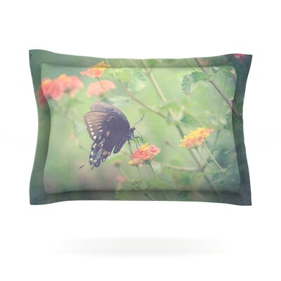 Captivating II by Robin Dickinson Featherweight Pillow Sham Size: King, Fabric: Cotton