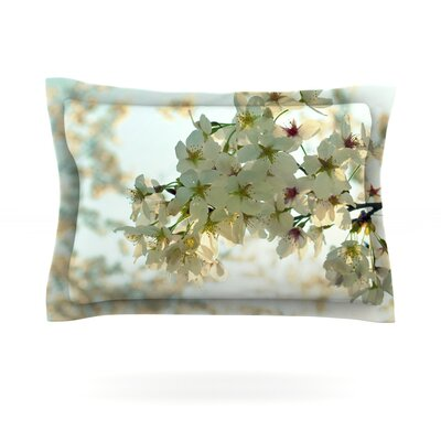 Cherry Blossoms by Robin Dickinson Featherweight Pillow Sham Size: Queen, Fabric: Cotton