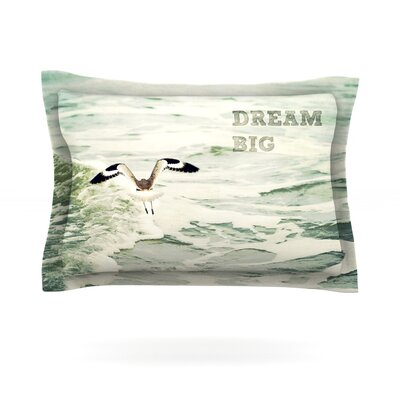 Dream Big by Robin Dickinson Featherweight Pillow Sham Size: King, Fabric: Cotton