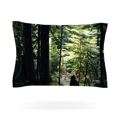 Enchanted Forest by Robin Dickinson Featherweight Pillow Sham Size: Queen, Fabric: Cotton