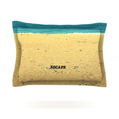 Escape by Robin Dickinson Featherweight Pillow Sham Size: King, Fabric: Cotton
