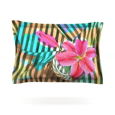 Lilly n Stripes by S. Seema Z Featherweight Pillow Sham Size: King, Fabric: Cotton