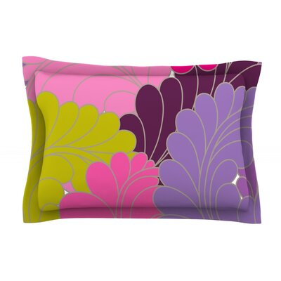 Moroccan Leaves by Nicole Ketchum Featherweight Pillow Sham Size: Queen, Fabric: Cotton