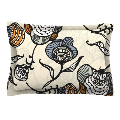 Future Nouveau by Gill Eggleston Featherweight Pillow Sham Size: Queen, Fabric: Cotton