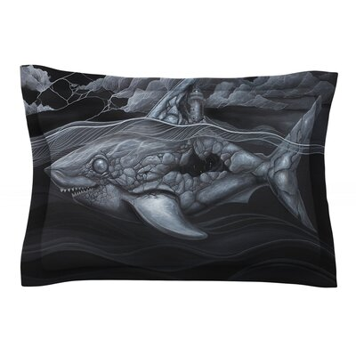 Troubled Joe by Graham Curran Featherweight Pillow Sham Size: King, Fabric: Cotton