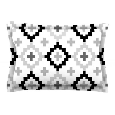 Black White Moroccan by Pellerina Design Featherweight Pillow Sham Size: King, Fabric: Cotton