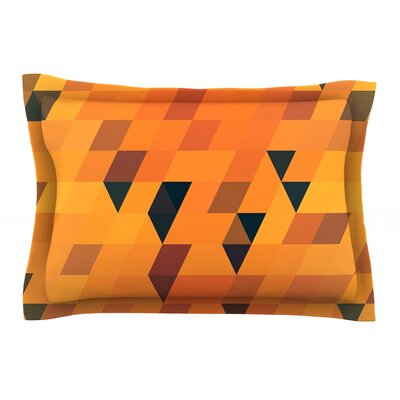 Gold Pattern by Danny Ivan Featherweight Pillow Sham Size: King, Fabric: Cotton