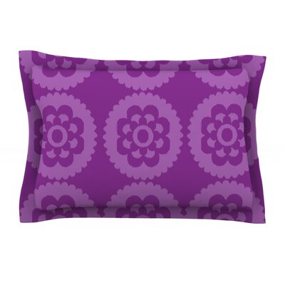 Moroccan Purple by Nicole Ketchum Featherweight Pillow Sham Size: King