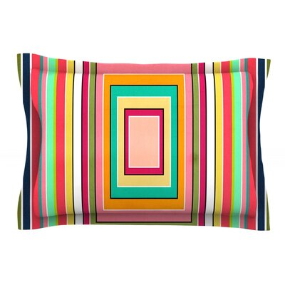 Floor Pattern by Danny Ivan Featherweight Pillow Sham Size: King, Fabric: Cotton