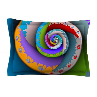 Flor Essence by Michael Sussna Featherweight Pillow Sham Size: Queen, Fabric: Cotton