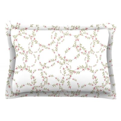 Evergreen Wreaths by Emma Frances Featherweight Pillow Sham Size: Queen, Fabric: Cotton