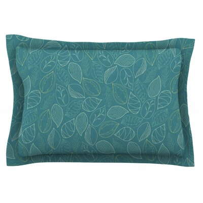 Autumn Leaves by Emma Frances Featherweight Pillow Sham Size: Queen, Fabric: Cotton
