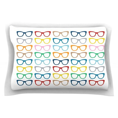 Rainbow Specs by Project M Featherweight Pillow Sham Size: King, Fabric: Cotton