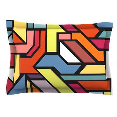 Abstract Shapes by Danny Ivan Featherweight Pillow Sham Size: Queen, Fabric: Cotton