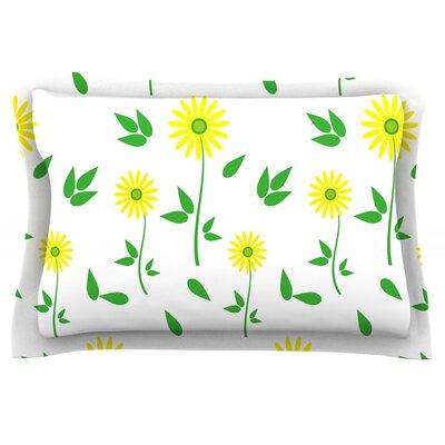 Daisy by Louise Featherweight Pillow Sham Size: King, Fabric: Cotton