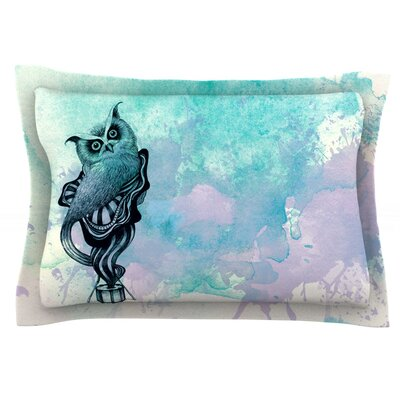 Owl II by Graham Curran Featherweight Pillow Sham Size: Queen, Fabric: Cotton