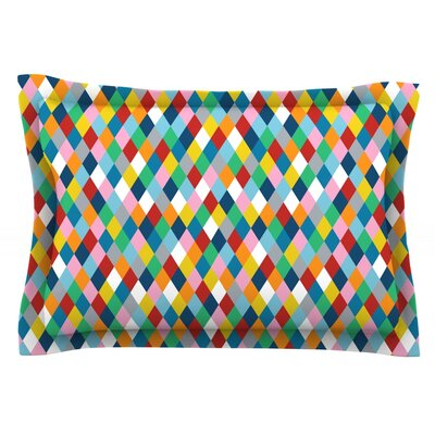 Harlequin by Project M Featherweight Pillow Sham Size: King, Fabric: Cotton