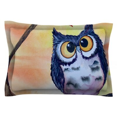 Hootie Cutie by Padgett Mason Featherweight Pillow Sham Size: Queen, Fabric: Cotton