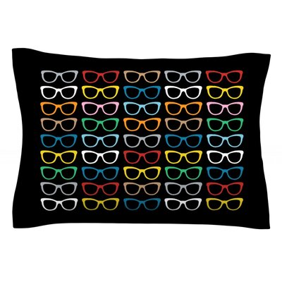 Sun Glasses at Night by Project M Featherweight Pillow Sham Size: Queen, Fabric: Cotton