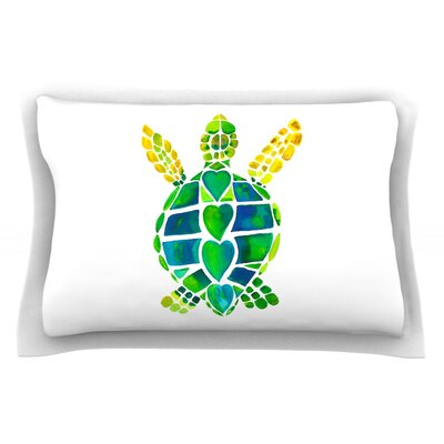 Turtle Love by Catherine Holcombe Featherweight Pillow Sham Size: King, Fabric: Cotton