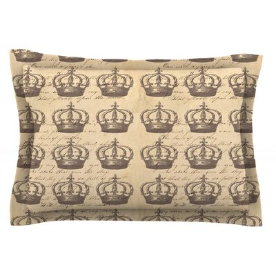 Crowns by Suzanne Carter Featherweight Pillow Sham Size: Queen, Fabric: Cotton